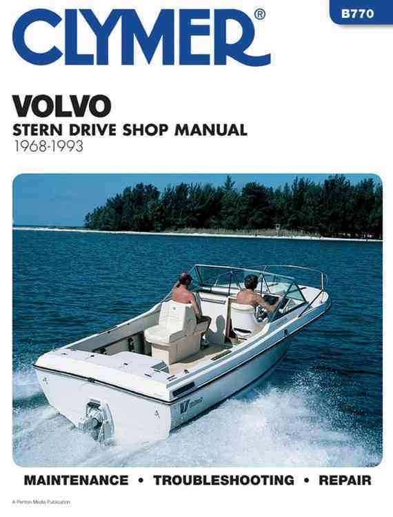 Clymer Volvo Stern Drive Shop Manual, 1968-1993